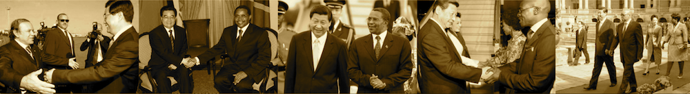 Hu Jintao and Xi Jinping in Africa